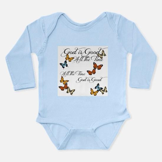 God is Good- Butterflies Body Suit