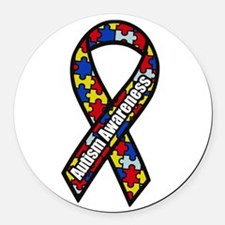Cute Autism Round Car Magnet