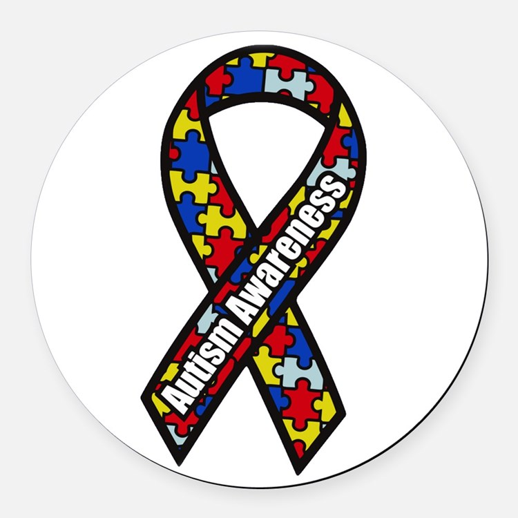 Cute Aspergers syndrome Round Car Magnet