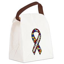 Cute Autism ribbon Canvas Lunch Bag