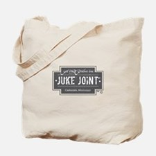Clarksdale Juke Joint - Charcoal Cross Design Tote