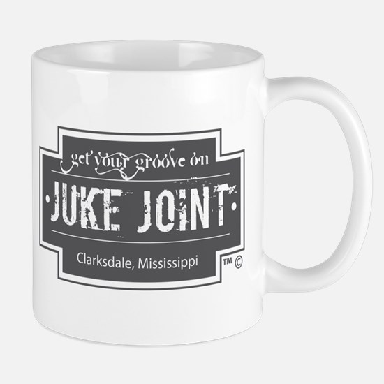 Clarksdale Juke Joint - Charcoal Cross Design Mugs