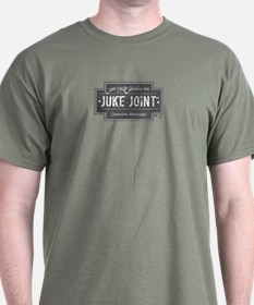 Clarksdale Juke Joint - Charcoal Cross Design T-Sh