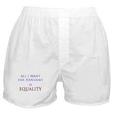 Equality Hanukah Boxer Shorts