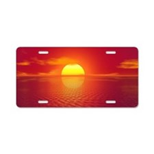 Sunset Aluminum License Plate
