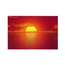 Sunset Rectangle Magnet