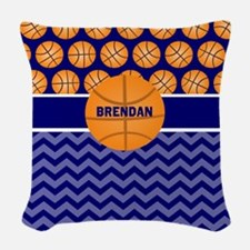 Basketball Personalized Woven Throw Pillow