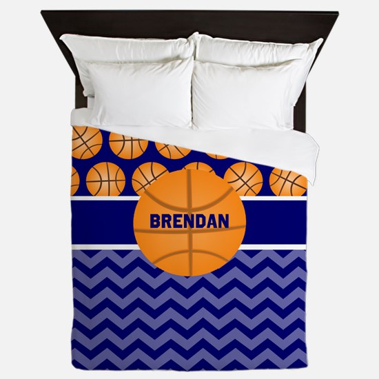 Basketball Personalized Queen Duvet
