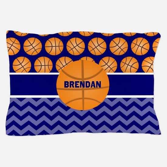 Basketball Blue Personalized Pillow Case