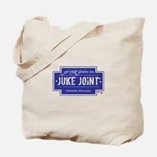 Clarksdale Juke Joint - Blue Cross Design Tote Bag
