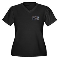 'Sonja' Women's Plus Size V-Neck Dark T-Shirt