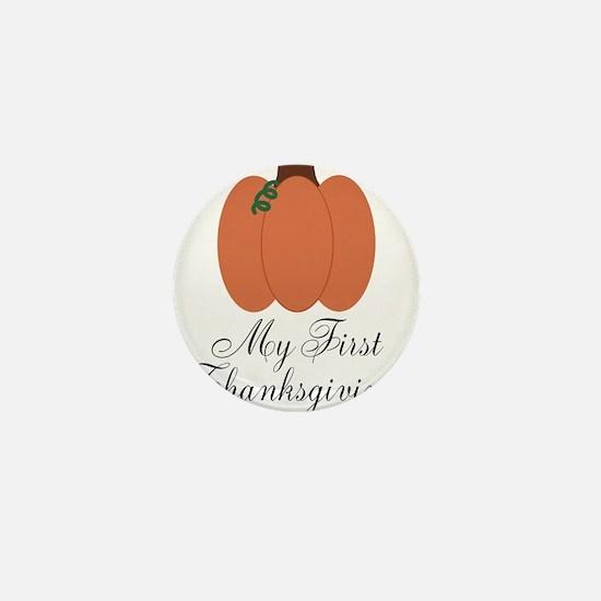 My First Thanksgiving Pumpkin Mini Button (10 pack