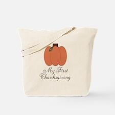 My First Thanksgiving Pumpkin Tote Bag