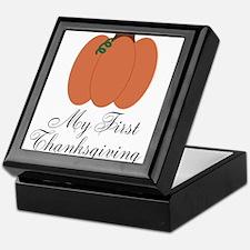 My First Thanksgiving Pumpkin Keepsake Box