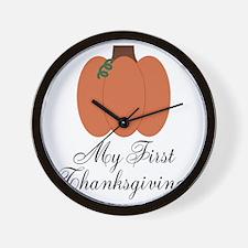 My First Thanksgiving Pumpkin Wall Clock