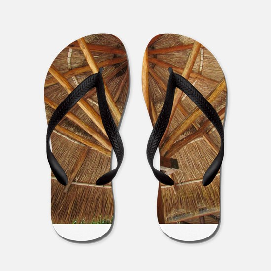 Tiki Umbrella Flip Flops