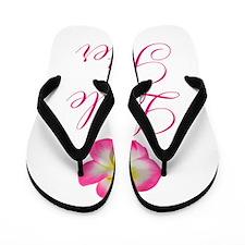 Little Sister Pink Flower Flip Flops