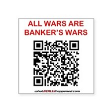 All Wars Are Bankers Wars Qr Sticker