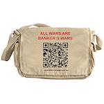 All Wars are Bankers wars QR Messenger Bag