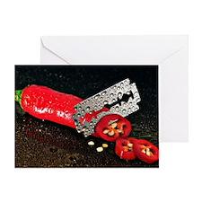 Peperoni Style Greeting Card
