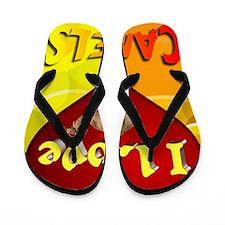 I Love Camels Flip Flops