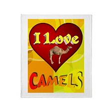 I Love Camels Throw Blanket