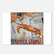 Cute Steamed crabs blue crabs chesapeake bay maryland Postcards (Package of 8)