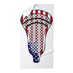 Lacrosse Flag Head 600 Beach Towel