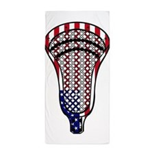 Lacrosse Flag Head 600 Beach Towel