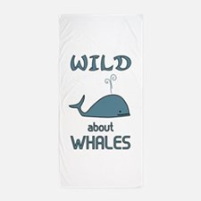 Wild About Whales Beach Towel