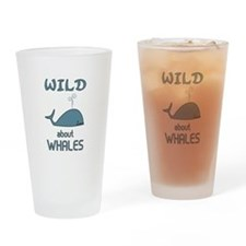 Wild About Whales Drinking Glass