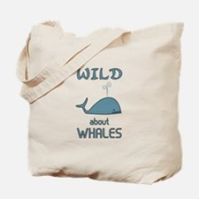 Wild About Whales Tote Bag