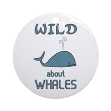 Wild About Whales Ornament (Round)