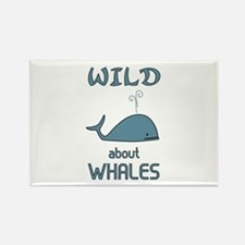 Wild About Whales Rectangle Magnet (10 pack)