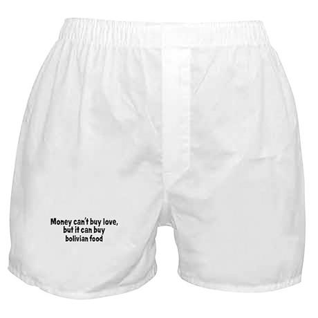 bolivian food (money) Boxer Shorts