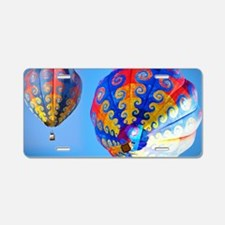 Tye Dye Hot Air Balloon Aluminum License Plate