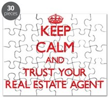 Keep Calm and trust your Real Estate Agent Puzzle
