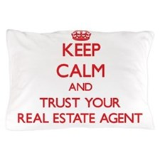 Keep Calm and trust your Real Estate Agent Pillow