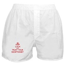 Keep Calm and trust your Receptionist Boxer Shorts