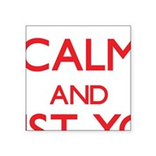 Keep Calm and trust your Receptionist Sticker