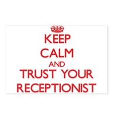 Keep Calm and trust your Receptionist Postcards (P