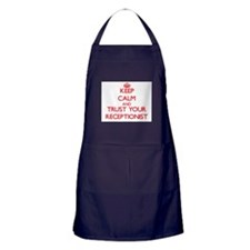 Keep Calm and trust your Receptionist Apron (dark)