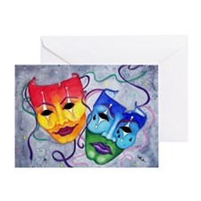 Comedy and Tragedy Wider size Greeting Card