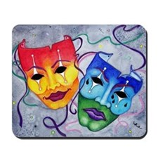 Comedy and Tragedy Wider size Mousepad