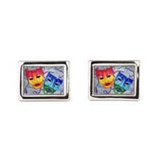 Comedy And Tragedy Design Rectangular Cufflinks