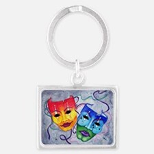 Comedy And Tragedy Design Rectangle Keychains