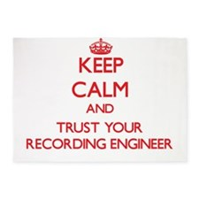 Keep Calm and trust your Recording Engineer 5'x7'A