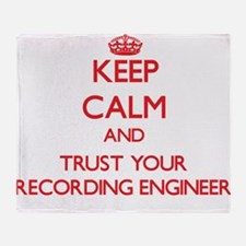 Keep Calm and trust your Recording Engineer Throw