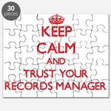 Keep Calm and trust your Records Manager Puzzle
