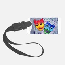 Comedy And Tragedy Design Luggage Tag